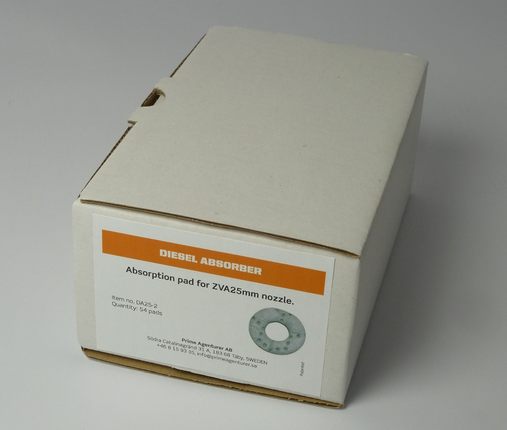 Pack containing 54 in no. absorption filters suitable for both DA25 and DA40